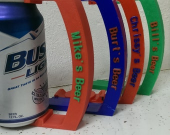 Can Holder with Custom name - 12 oz - Great for Soda, Pop, Beer, and More! - 3D Printed - Fathers Day Gift