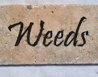 Weeds Garden Stone (IN0083)