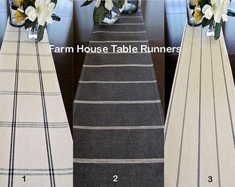 FARMHOUSE PLAID TABLE Runners  Plaid Table Runners Farm House Table Runners Buffalo Check Table Runner Christmas Table runner