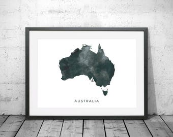 Australia map print etsy australia map watercolour print watercolor map art australia map poster australia map print gumiabroncs Choice Image