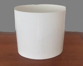 Kartell Waste Basket Trash Can - Vintage white 1970s