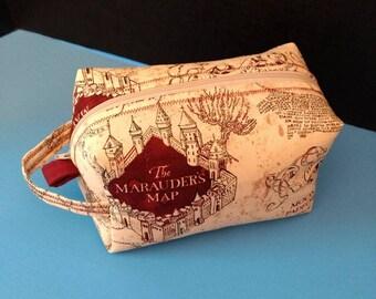 Marauder's Map makeup bag with handle Harry Potter