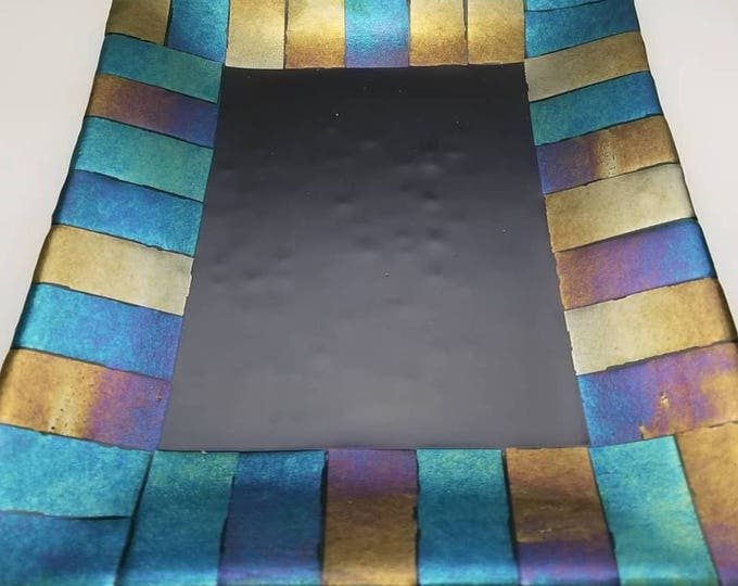 Featured listing image: 9x11 Serving Platter - Black and Iridescent