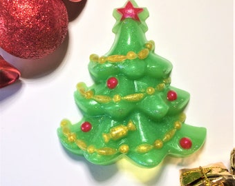 Christmas Tree Soap-Christmas Soap-Christmas Favor-Holiday Gift-Stocking Stuffers-Christmas Guest Party Soap-Holiday Party Favor