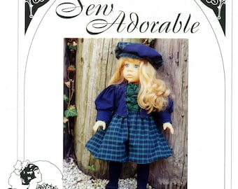 """Sew Adorable 18"""" American Girl Doll Clothes Pattern, American made, Victorian Bicycle Outfit"""