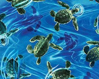 Fat Quarter Ocean Avenue II Baby Hatchling Turtles 100% Cotton Quilting Fabric