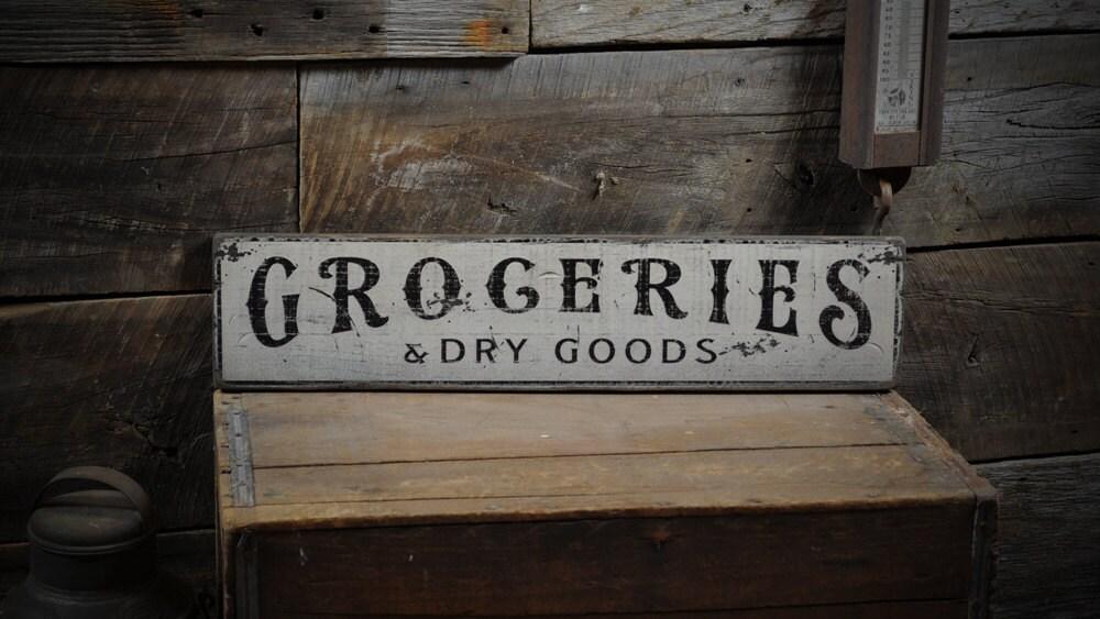 zoom Groceries u0026 Dry Goods Sign Kitchen