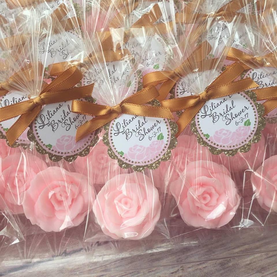 80 ROSE SOAP FAVORS Rose Bridal Shower Favors Soap Roses