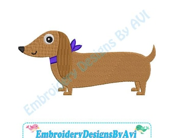 Dachshund Doxie Dog Machine Embroidery Designs 4x4 & 5x7 Instant Download Sale