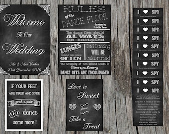 SPECIAL OFFER 20 DEAL !!! A3 & A4 wedding sign bundle! Special offer ......