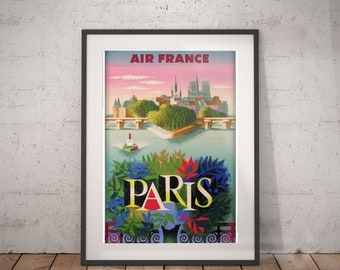 paris,paris travel poster, wall decor, vintage