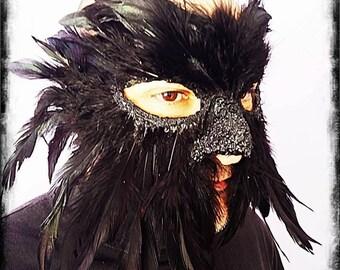 Mask Crow MORRIGAN Wicca