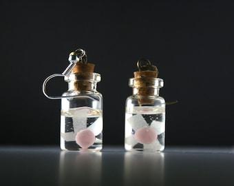 Legend of Zelda Fairy in a bottle Earrings (They glow in the dark!)