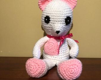 Handmade Teddy Bear with Heart Shaped Feet