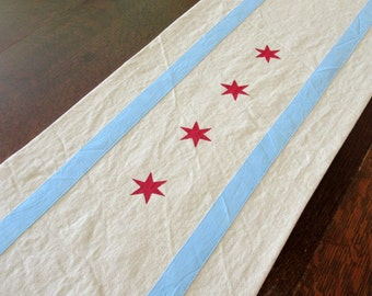 """70"""" Chicago table runner - cotton -- for Daaa Dinner Table"""
