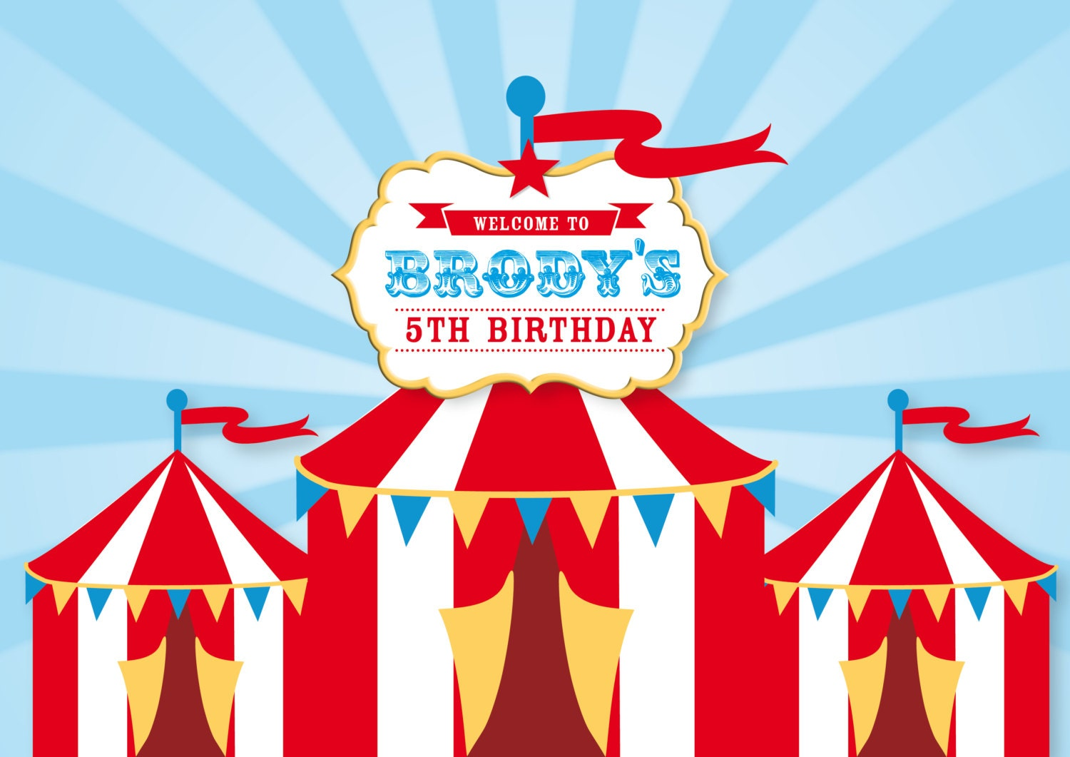 CIRCUS Backdrop Printable Artwork Print Your Own