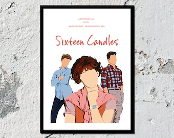 NEW & IMPROVED** Sixteen Candles high quality film print (A5, A4, A3)