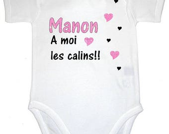 Bodysuit Amoi cuddling personalized with name