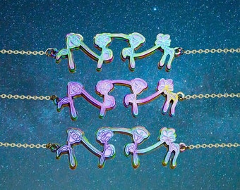 BTS Army Rainbow Metal Necklace Charm |  KPOP Necklace Jewellery | BTS Albums' Inspired Necklace Jewelry | Love Yourself Her