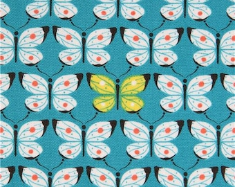 207220 teal butterfly animal Oxford fabric from Japan