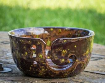 Copper Sparkle Yarn Bowl