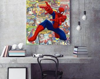 Marvel SpiderMan Canvas Print