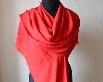 red gift-for-wife mother's day gifts day gift-for-her red scarf cotton scarf red shawl mom boho gift scarf shawl womens scarves womens gift