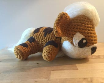 Crochet Growlithe Plush Amigurumi Pokemon