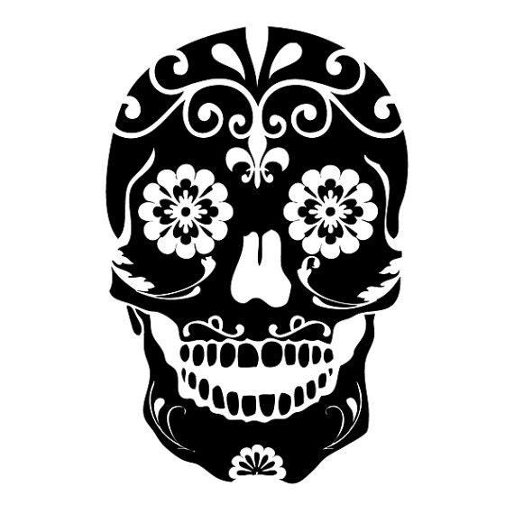 Mexican Sugar Skull Die Cut Decal Car Window Wall Bumper Phone