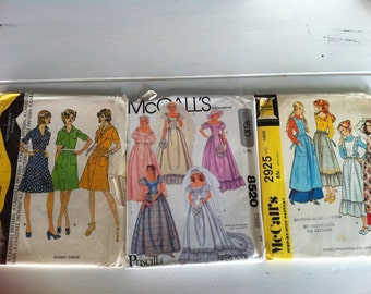 Vintage McCall's Patterns - 3 womens patterns 4122, 8520, 2925