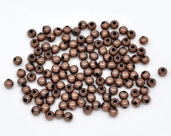 4MM Antiqued Copper Round Spacers