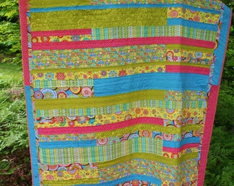Modern Homemade Twin Quilt on SALE