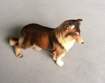 1950's vintage Collie Dog figurine marked Foreign