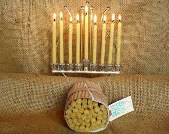 beeswax Chanukah candles *Jewish holiday gift*