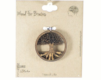 Tree of Life - Laser Cut Wooden Pendant