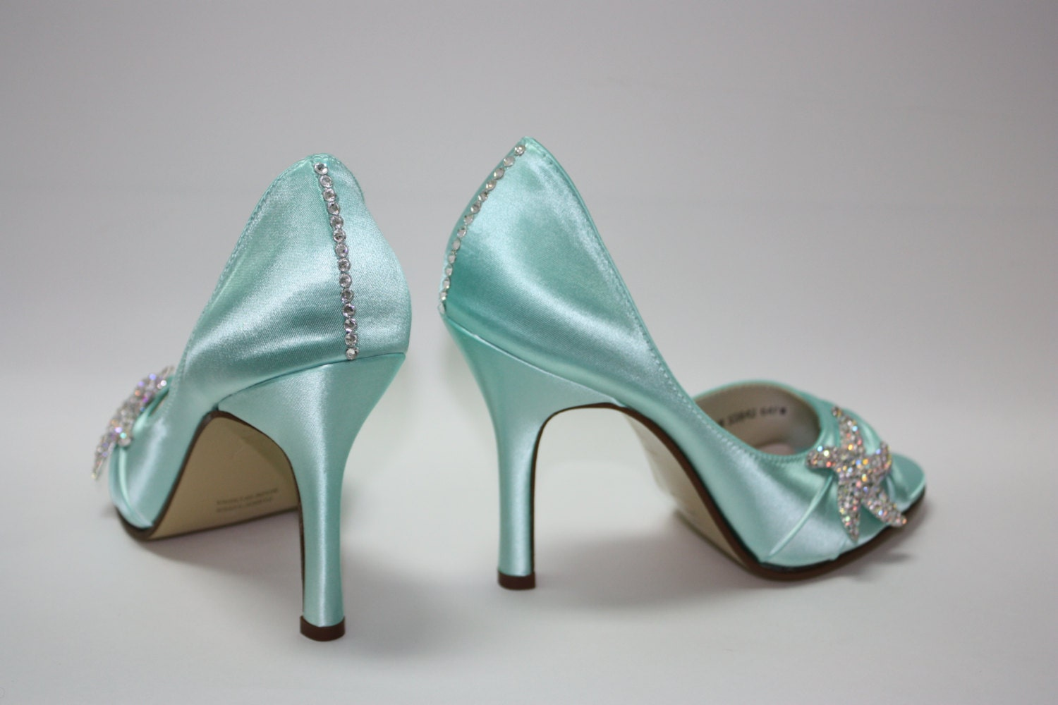 Wedding starfish shoes beach aqua blue shoes choose from zoom junglespirit Image collections