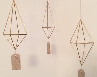 Trio - Brass Himmeli Airplant Hangers