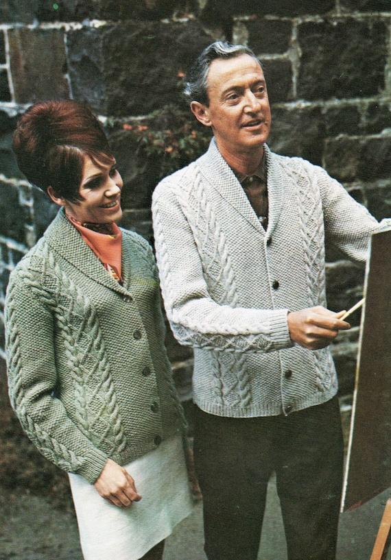Post Free Knitting Pattern Mens Or Womens Aran Cardigan His