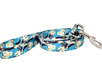 Van Gogh Almond Blossom Fashion Dog Leash - 5ft. Made From Recycled Webbing