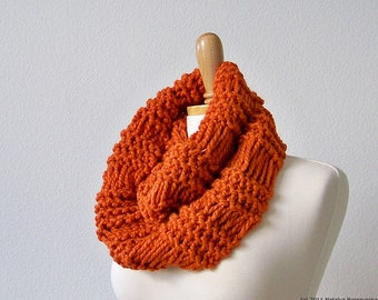 Knitting PATTERN, Knit Scarf Pattern, Infinity Scarf Pattern, Chunky Knit Scarf, Knit Cowl Pattern, Cowl Scarf Pattern, Chunky Scarf Pattern