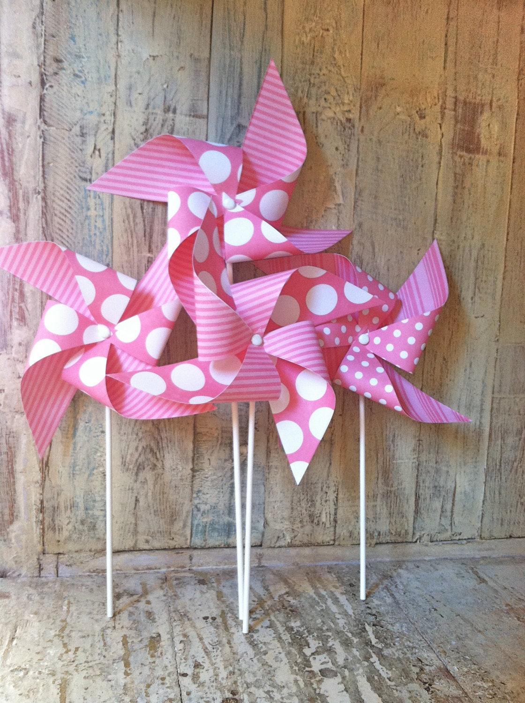 Pinwheels Bubble Gum PInk Set of 6 Pretty Princess