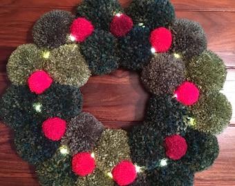 Christmas Sumptuous Pompom Wreath