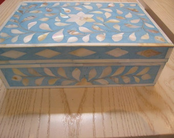 "Wooden Box, with ""Mother of Pearls"""
