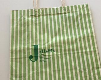 1950s Jelleff's Vintage Paper Shopping Bag - Department Store - Washington DC