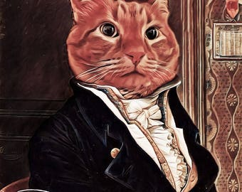 Custom Pet Portrait digital prints, pet art, wall decor