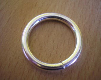 Round silver plated ring 20 mm open