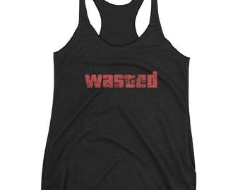 Wasted Women's Racerback Tank Distressed