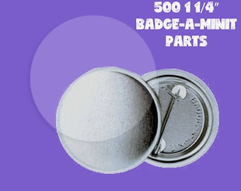 "500 1 1/4"" Badge-a-minit Button Parts Complete set"