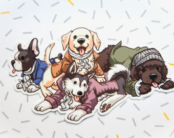 Hamilton Musical, Sticker, Vinyl Stickers, Hamilton Broadway, Lin Manuel Miranda, Dog Stickers, Cute Stickers, Animal Stickers, Hamilton Art