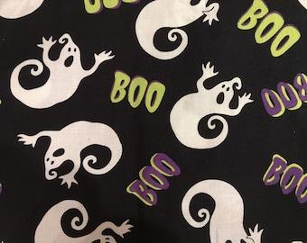 Halloween fabric by the yard - Boo fabric - ghost fabric #17156